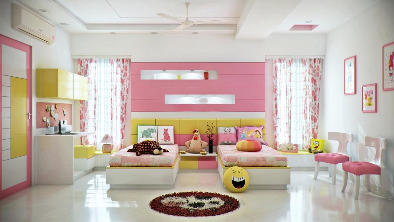 pembe kiz cocuk odasi dekorasyonu